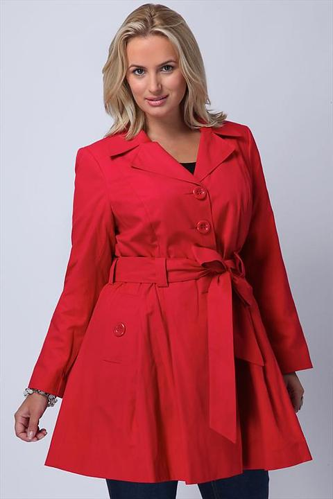 50's style red mac from YoursClothing.co.uk